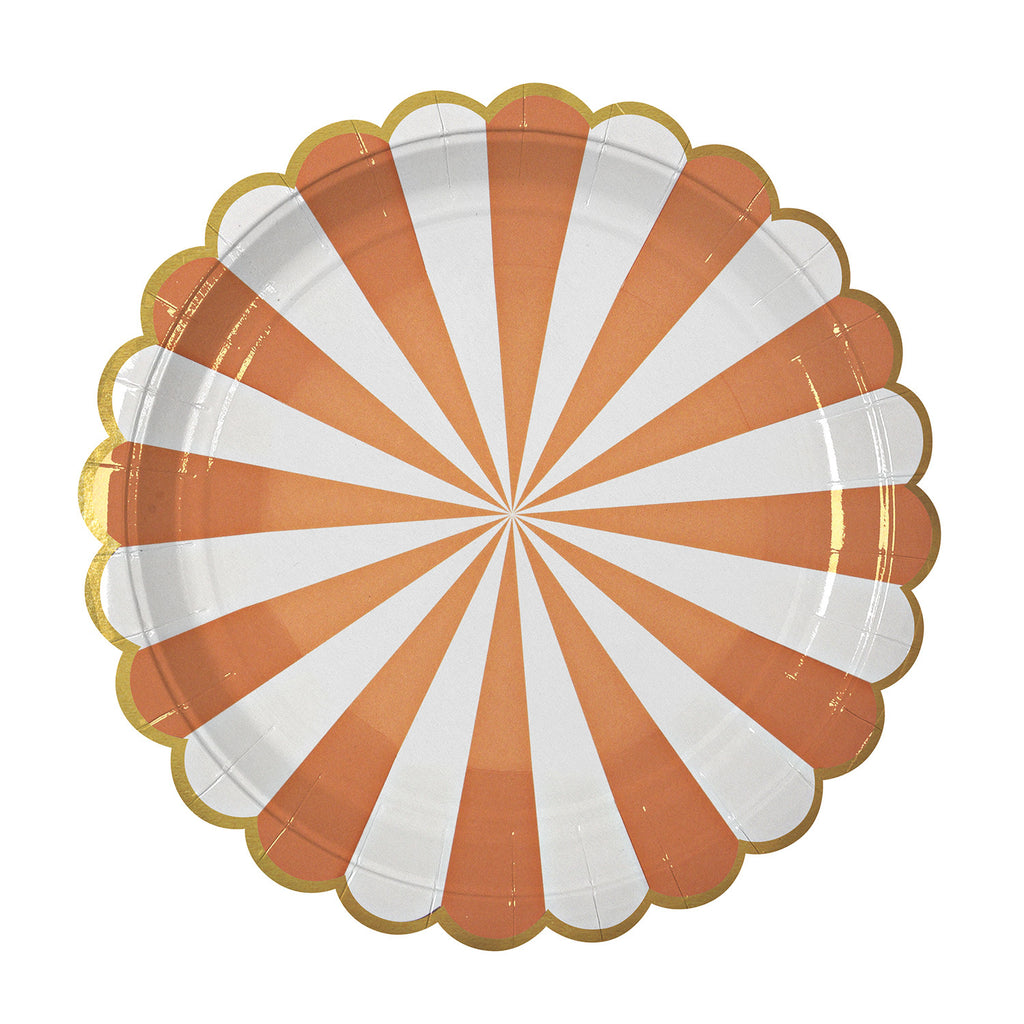 Orange Stripes Large Plates