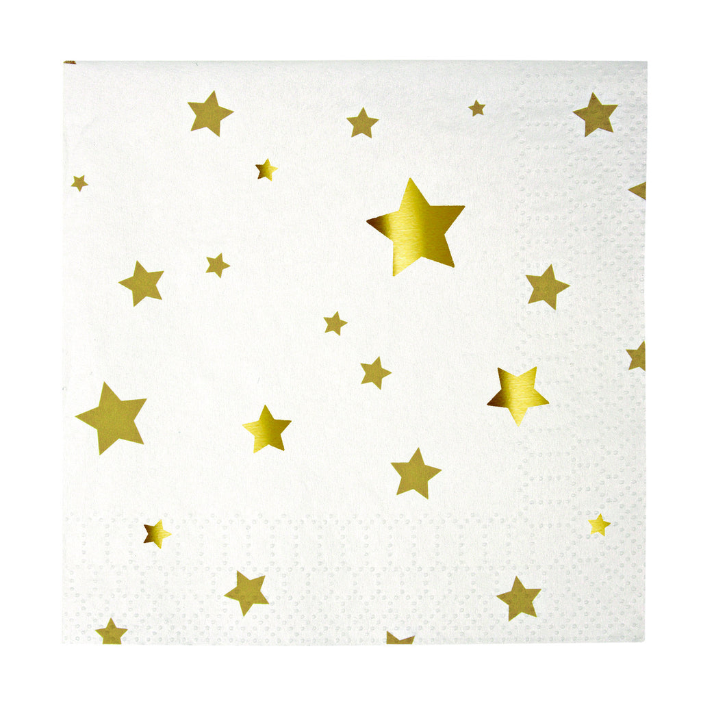 Gold Stars Small Napkins