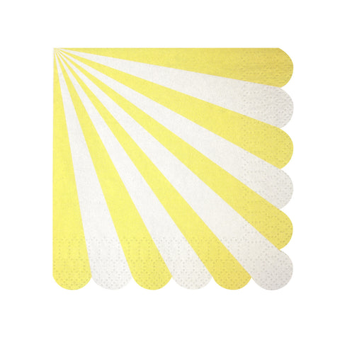 Yellow Stripes Small Napkins