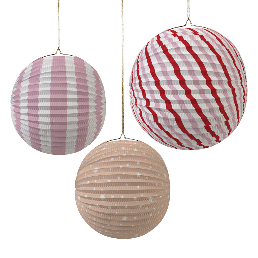 Paper Globes Pink