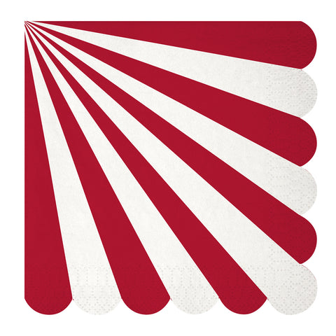 Red Stripes Large Napkins