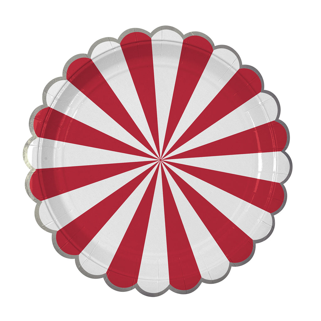 Red Stripes Large Plates