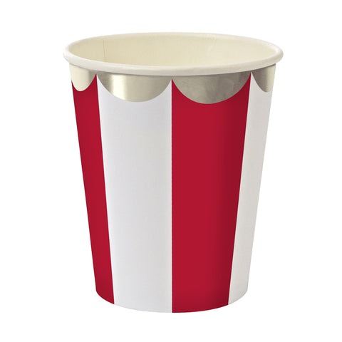 Red Stripes Party Cups