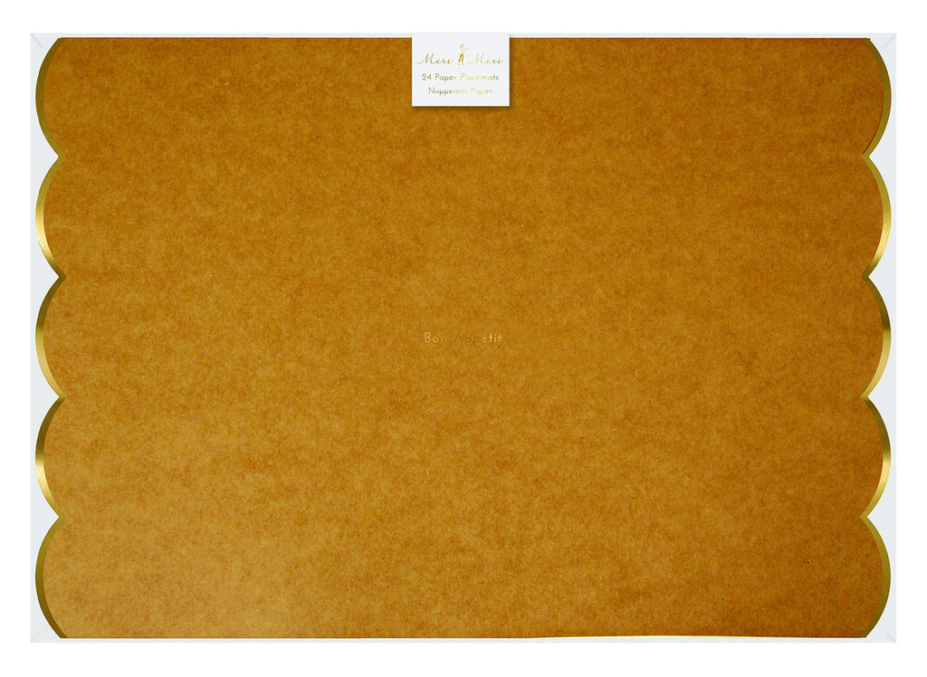 Kraft & gold Party Placemats