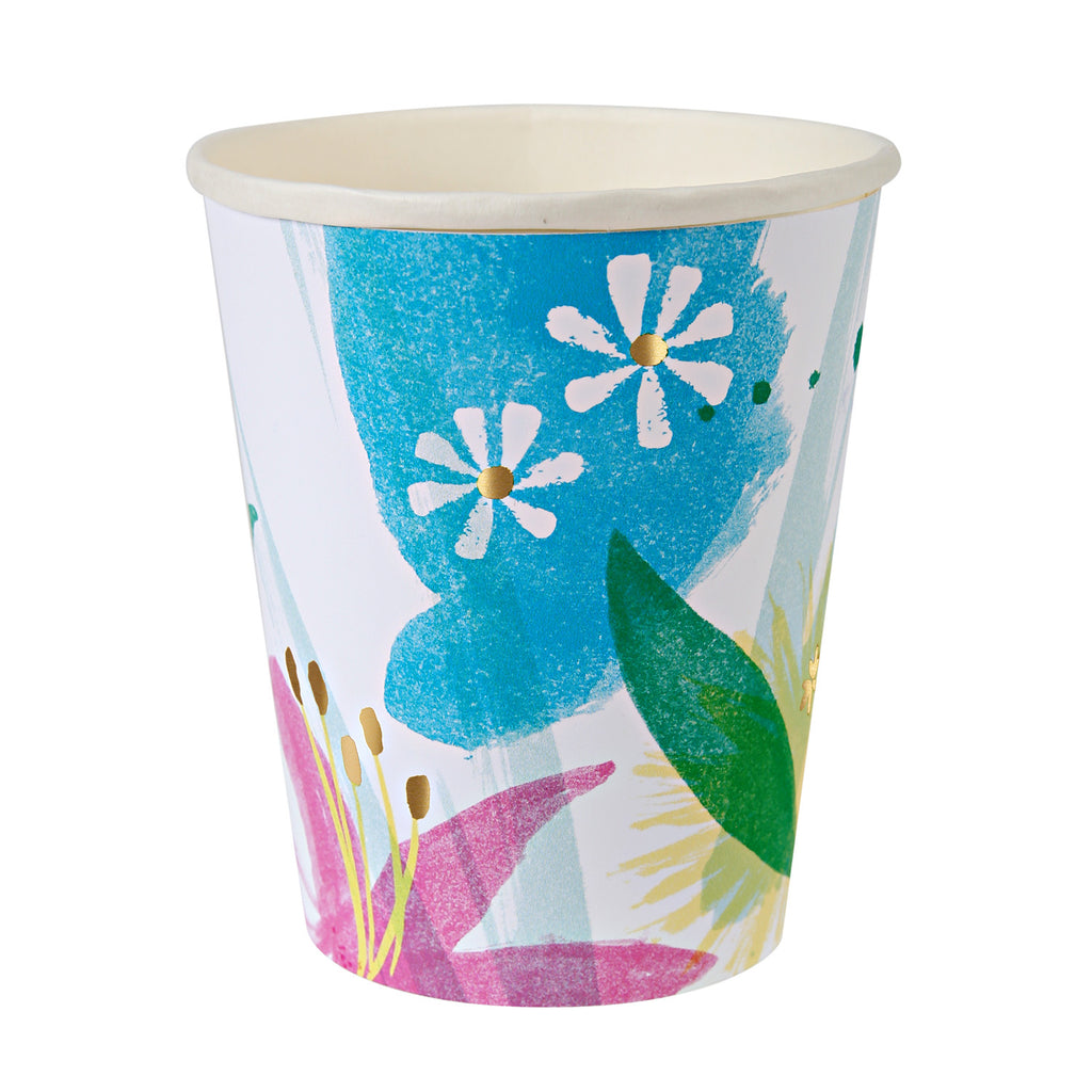 Painted Flowers Party Cups