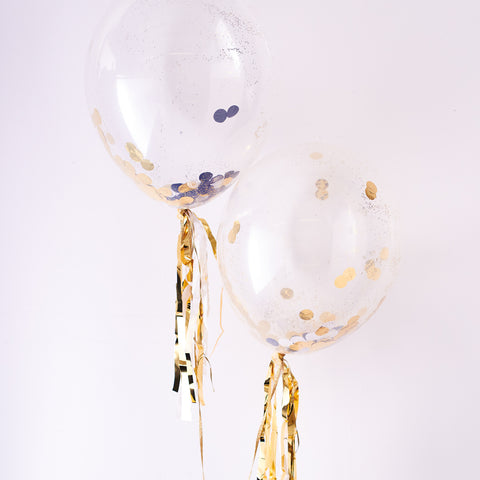 Metallic Confetti Balloon Kit (8 pack)
