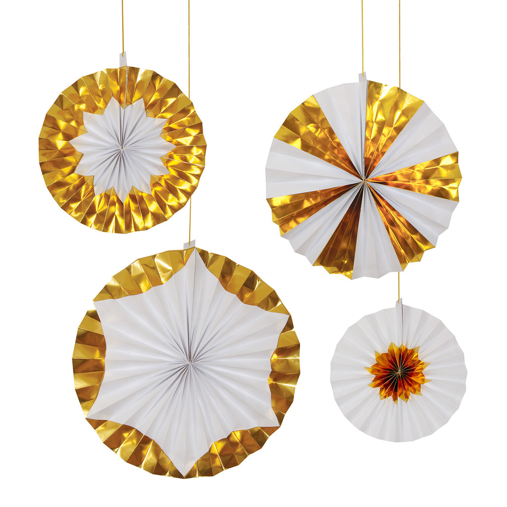 White & Gold Giant Pinwheels