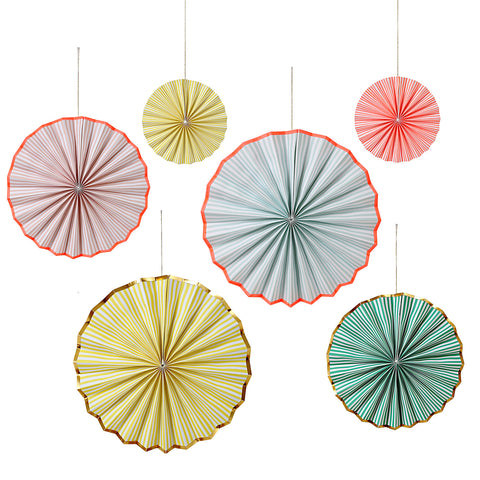 Pastel Stripes Pinwheels