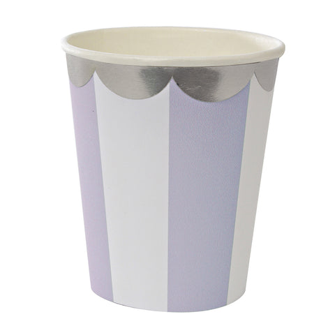 Lavender Stripes Party Cups