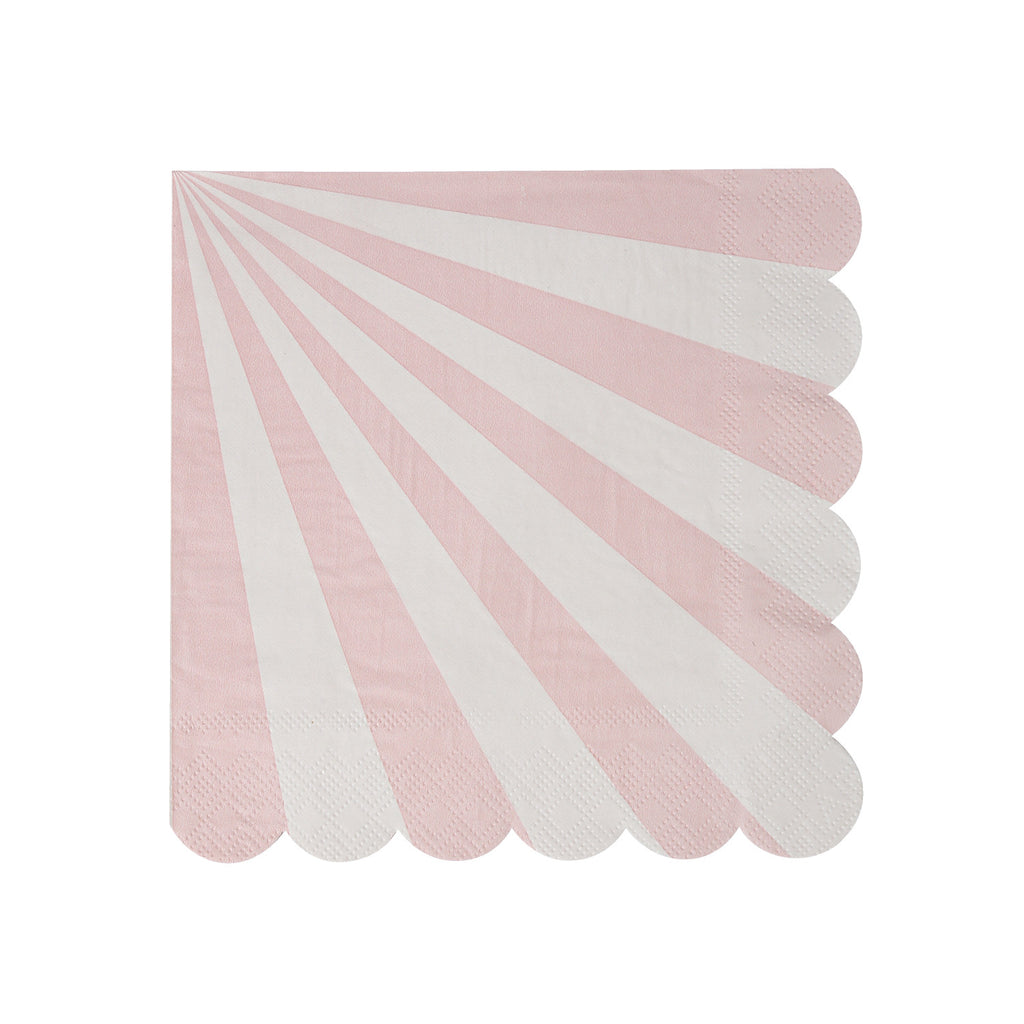 Dusty Pink Stripes Small Napkins