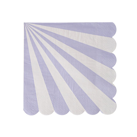 Lavender Stripes Small Napkins