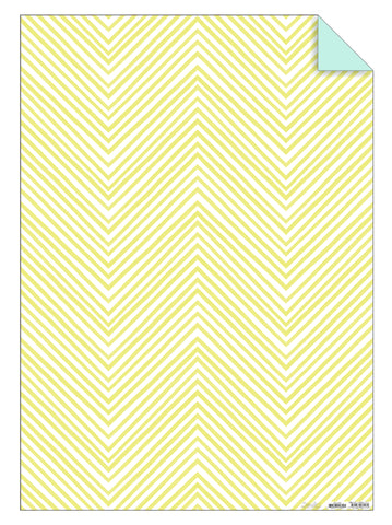 Yellow Chevron Gift Wrap Sheet