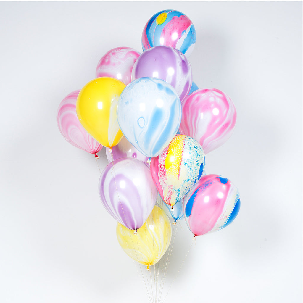Pink Marbled Balloons (8 pack)
