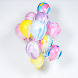 Blue Marbled Balloons (8 pack)