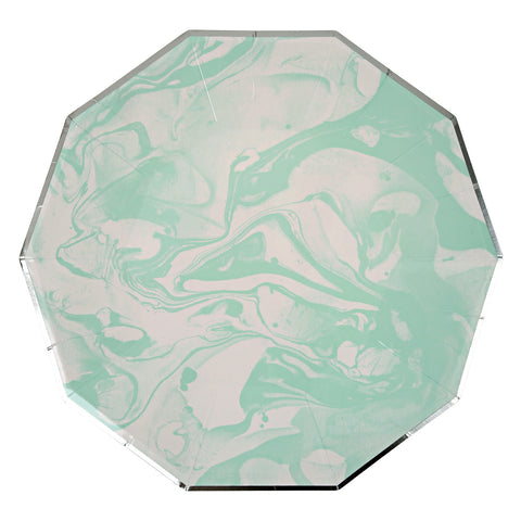 Marble Mint Large Plates