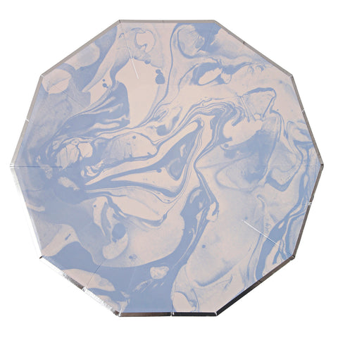 Marble Blue Large Plates