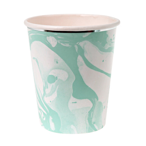 Marble Mint Party Cups