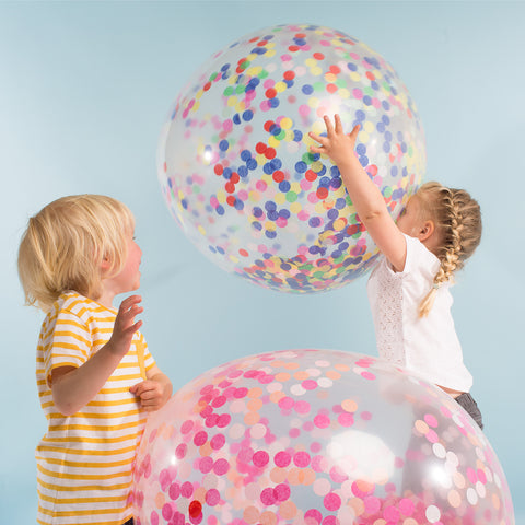 Multicolor Giant Confetti Balloon kit (3 pack)