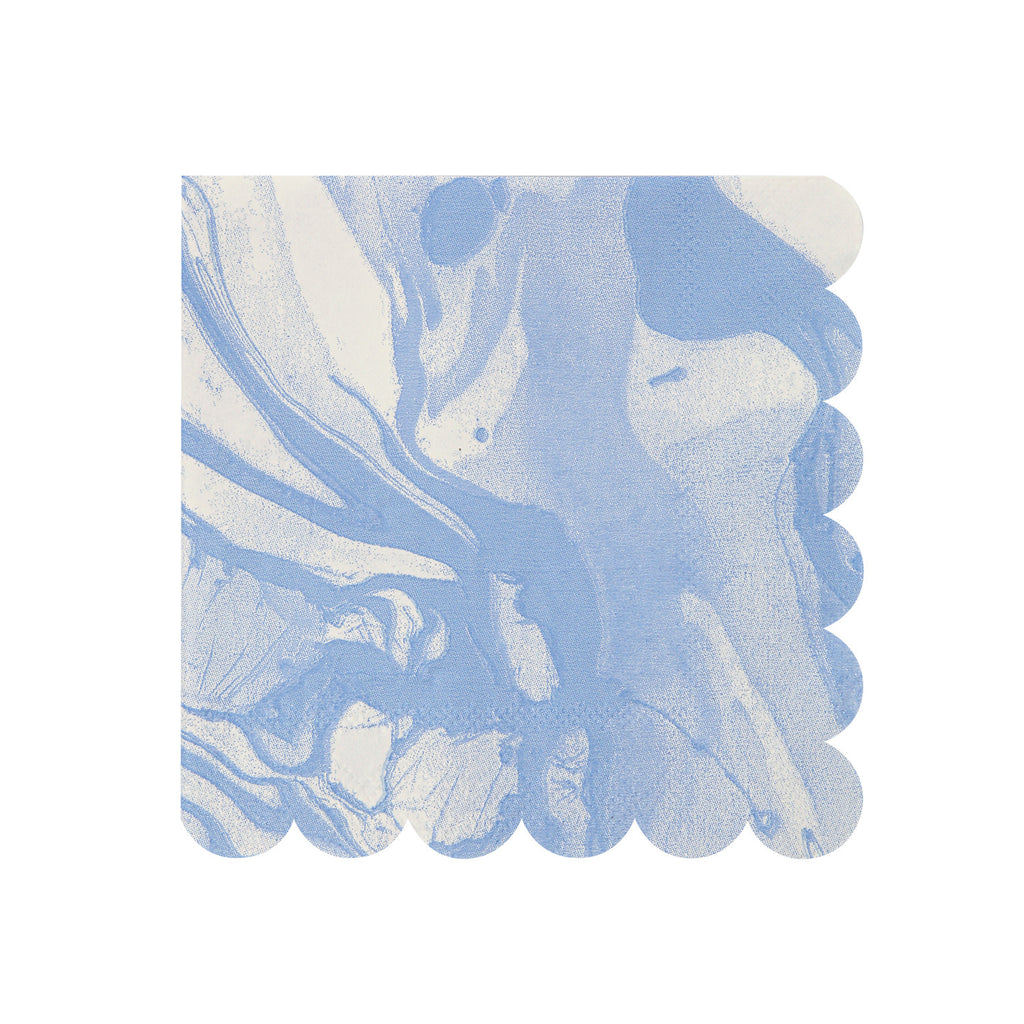 Marble Blue Small Napkins