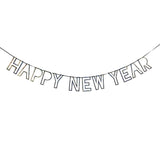 Happy New Year Silver Glitter Garland