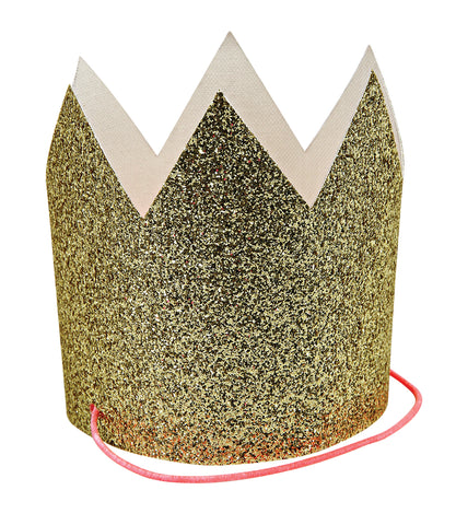 Gold Glitter Mini Party hats