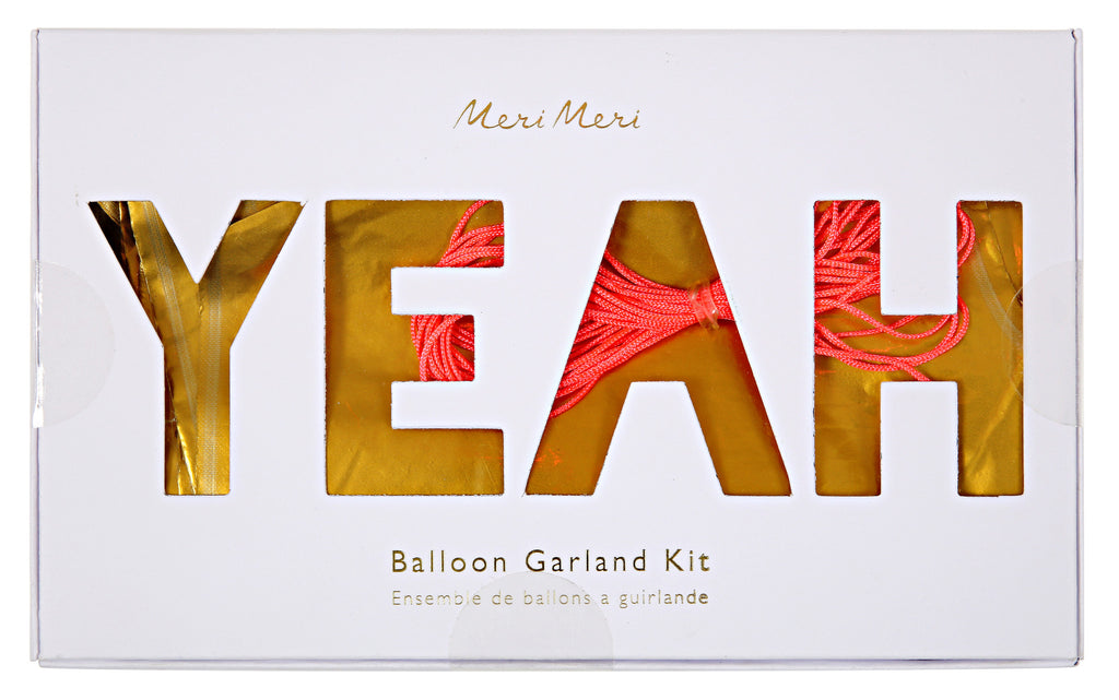 Yeah Balloon Kit Garland