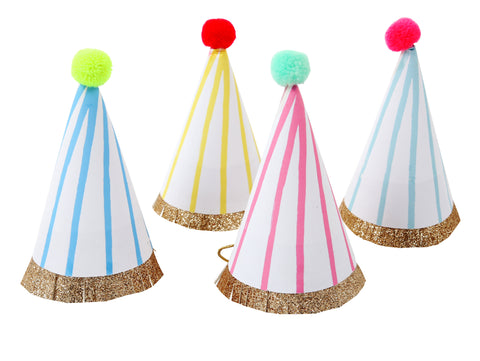 Happy Birthday Pom Pom Mini Party hats