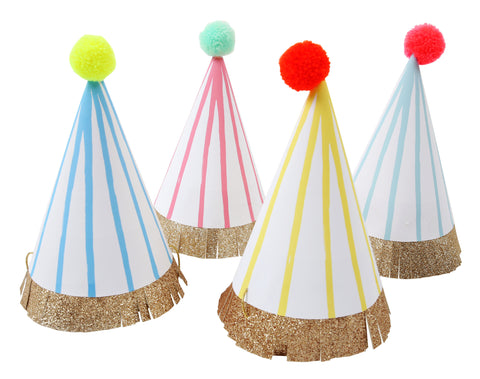 Happy Birthday Pom Pom Party hats