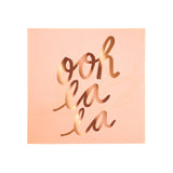 OOH LA LA Pastel Rose Gold Small Napkins