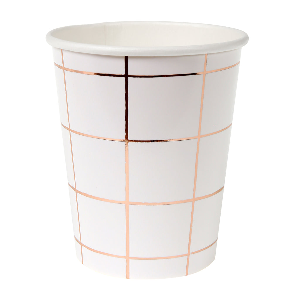 Rose gold grid Party Cups