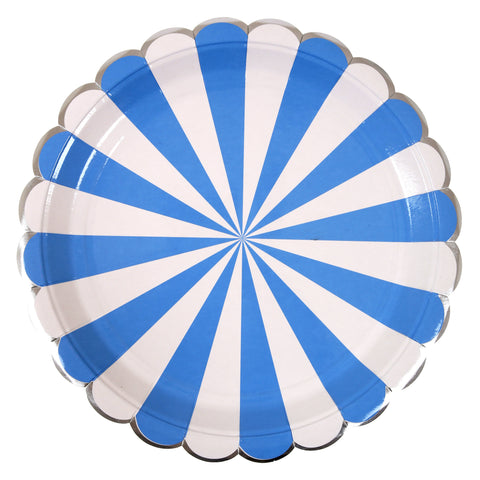 Blue Stripes Large Plates