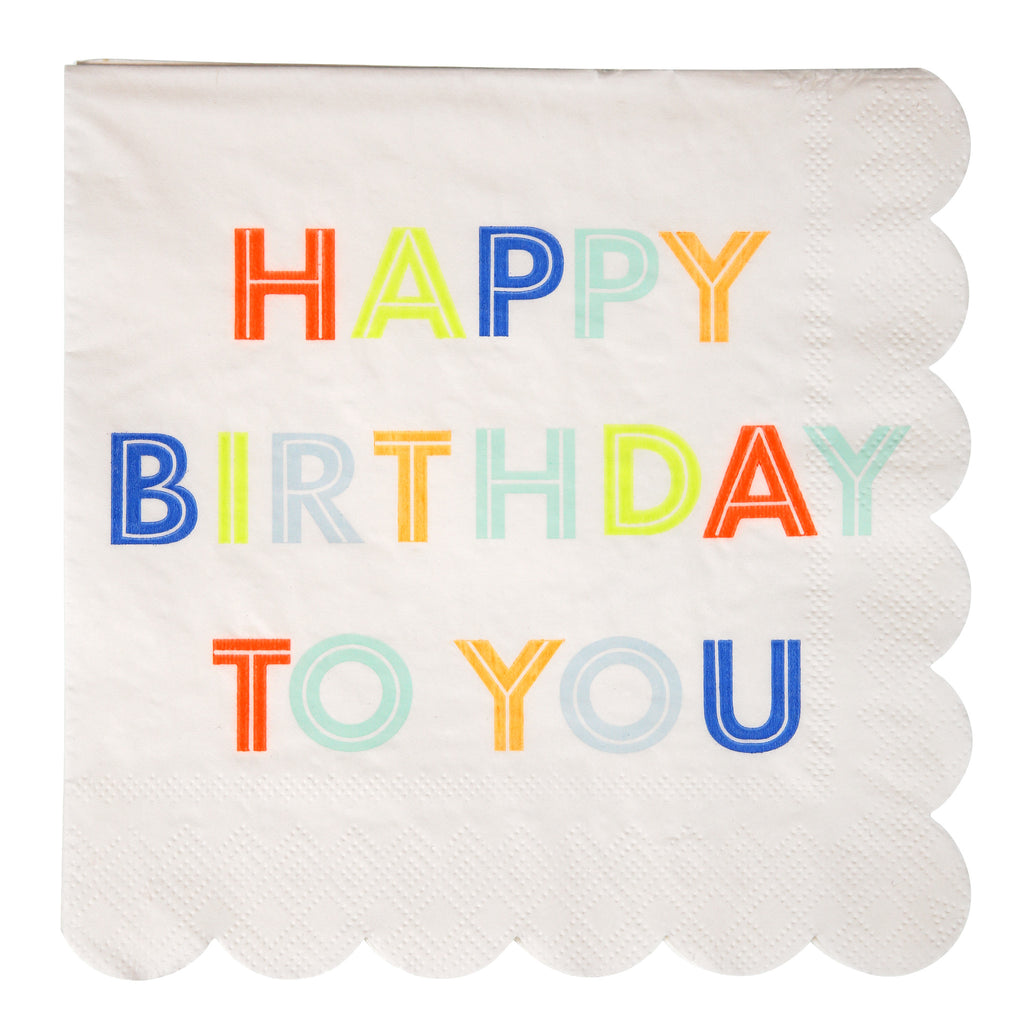 Happy Birthday To You Large Napkins