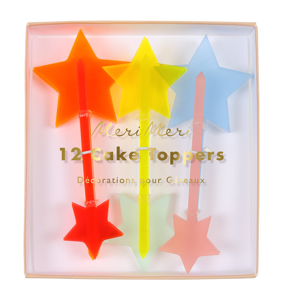 Neon Stars Acrylic Toppers
