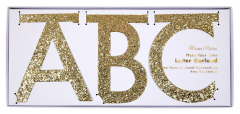 Gold Alphabet Garland Kit