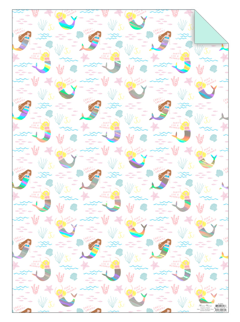 Mermaids Gift Wrap Sheet