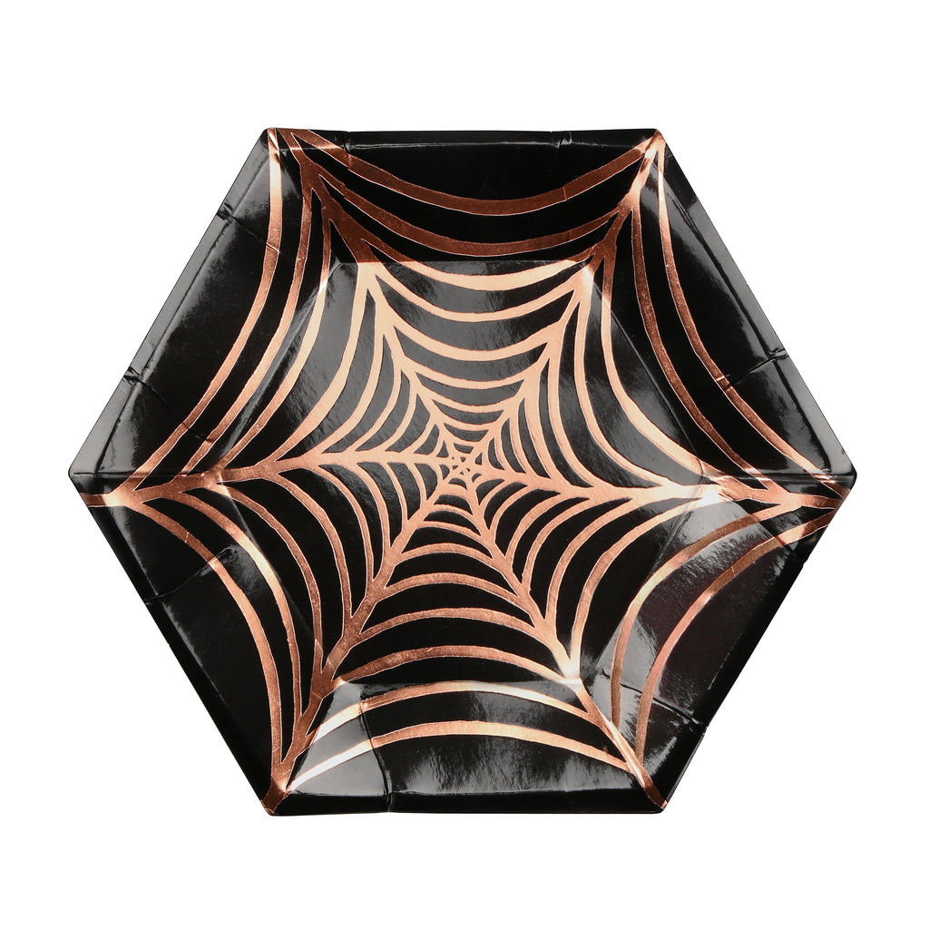 Rose Gold Cobweb Small Plates