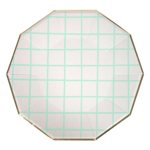 Mint grid Large Plates