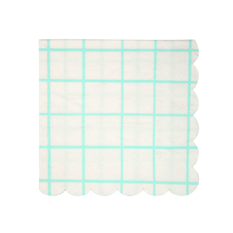 Mint grid Small Napkins
