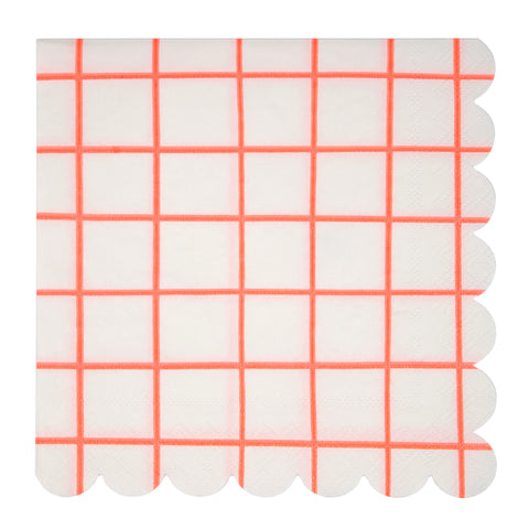 Coral grid Large Napkins