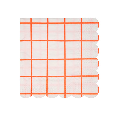 Coral grid Small Napkins