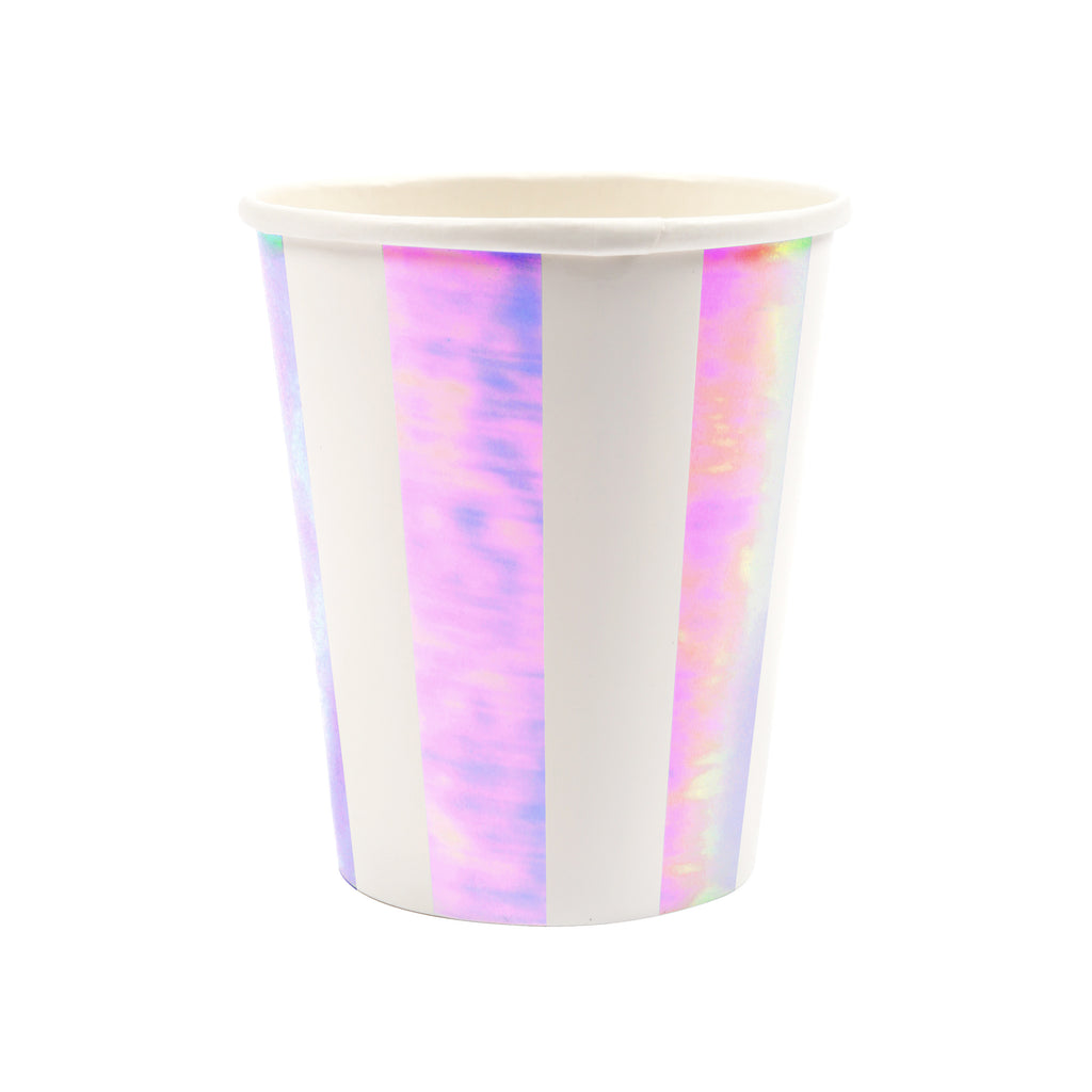 Iridescent Stripes Party Cups