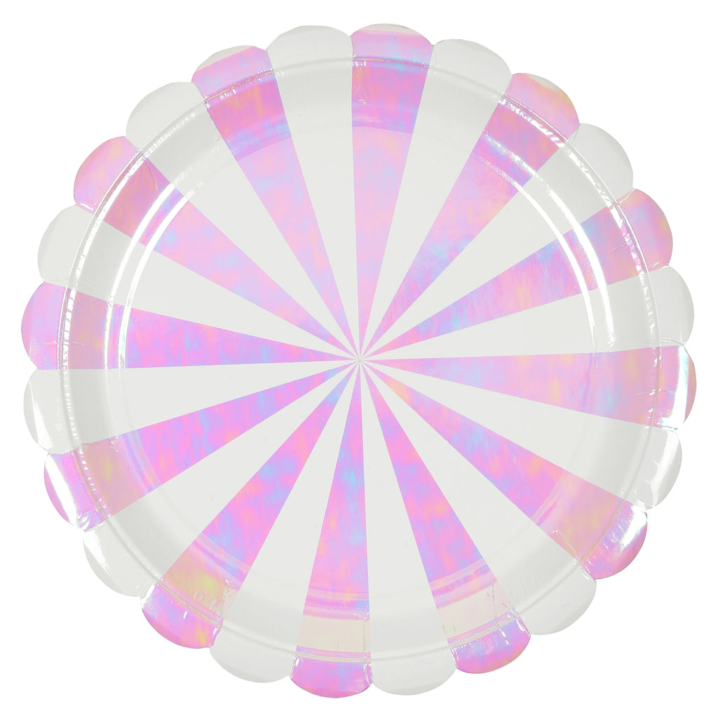 Iridescent Stripes Large Plates