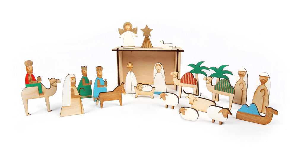 Wood Nativity Advent Calendar