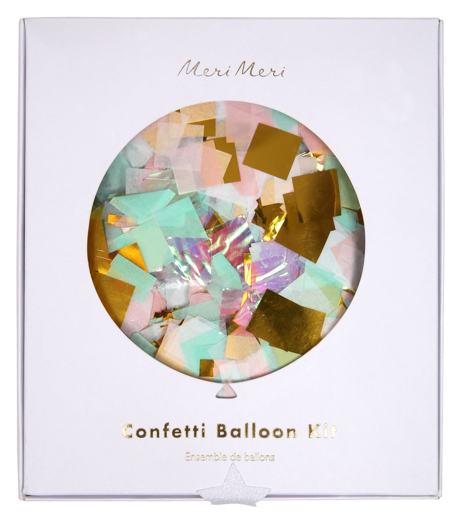 Iridescent Confetti Balloon kit (8 pack)