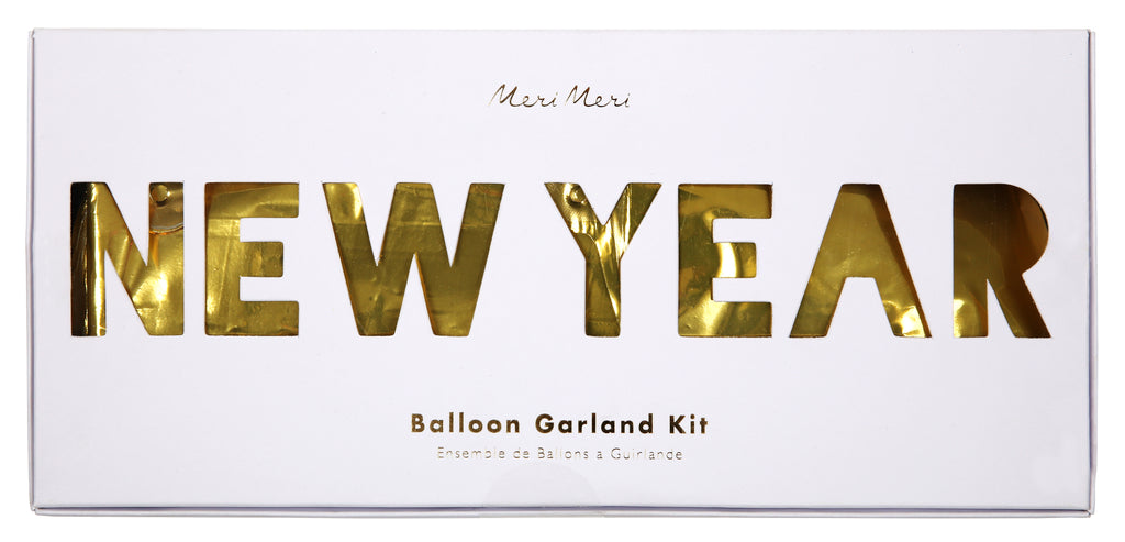 New Year Gold Balloon Garland