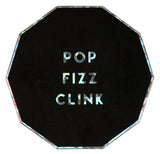Black & Holographic Pop Fizz Clink Coasters