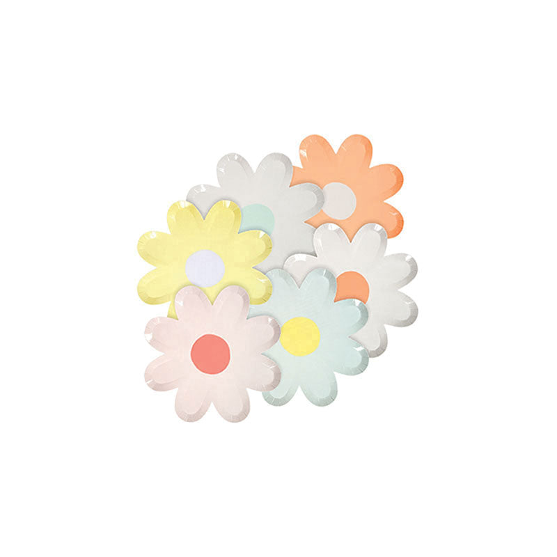Pastel Daisy Assorted Canape Plates