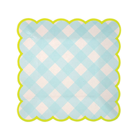 Blue Gingham Small Plates