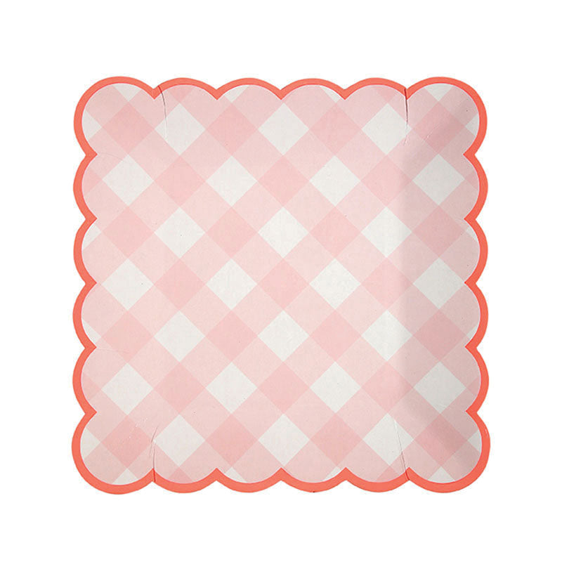 Pink Gingham Small Plates