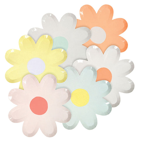Pastel Daisy Assorted Plates